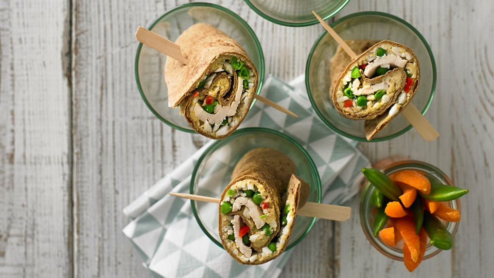 Wraps med chili-hummus
